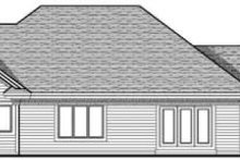 Home Plan - Traditional Exterior - Rear Elevation Plan #70-619