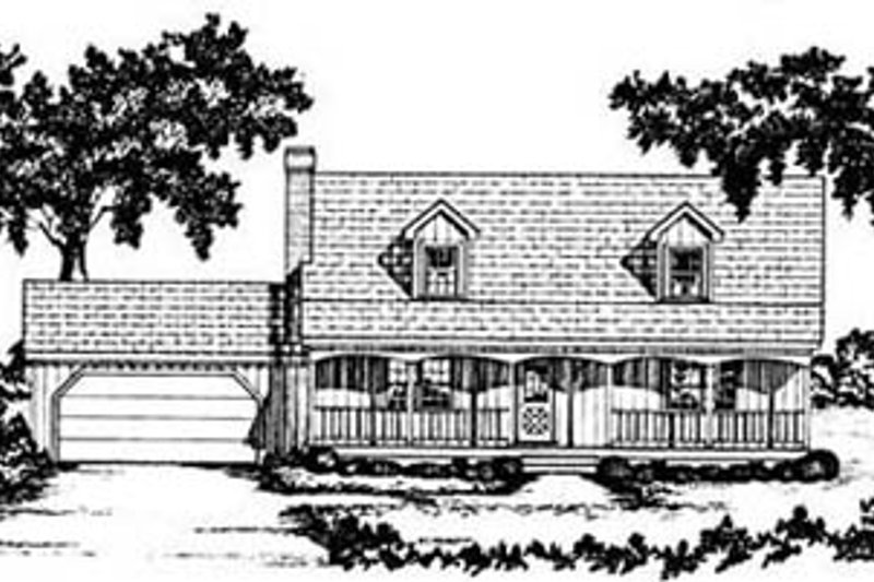 Country Exterior - Front Elevation Plan #36-149