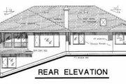 European Style House Plan - 3 Beds 2 Baths 2136 Sq/Ft Plan #18-9129 Exterior - Rear Elevation