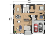 Contemporary Style House Plan - 2 Beds 1 Baths 1813 Sq/Ft Plan #25-4332 Floor Plan - Main Floor Plan