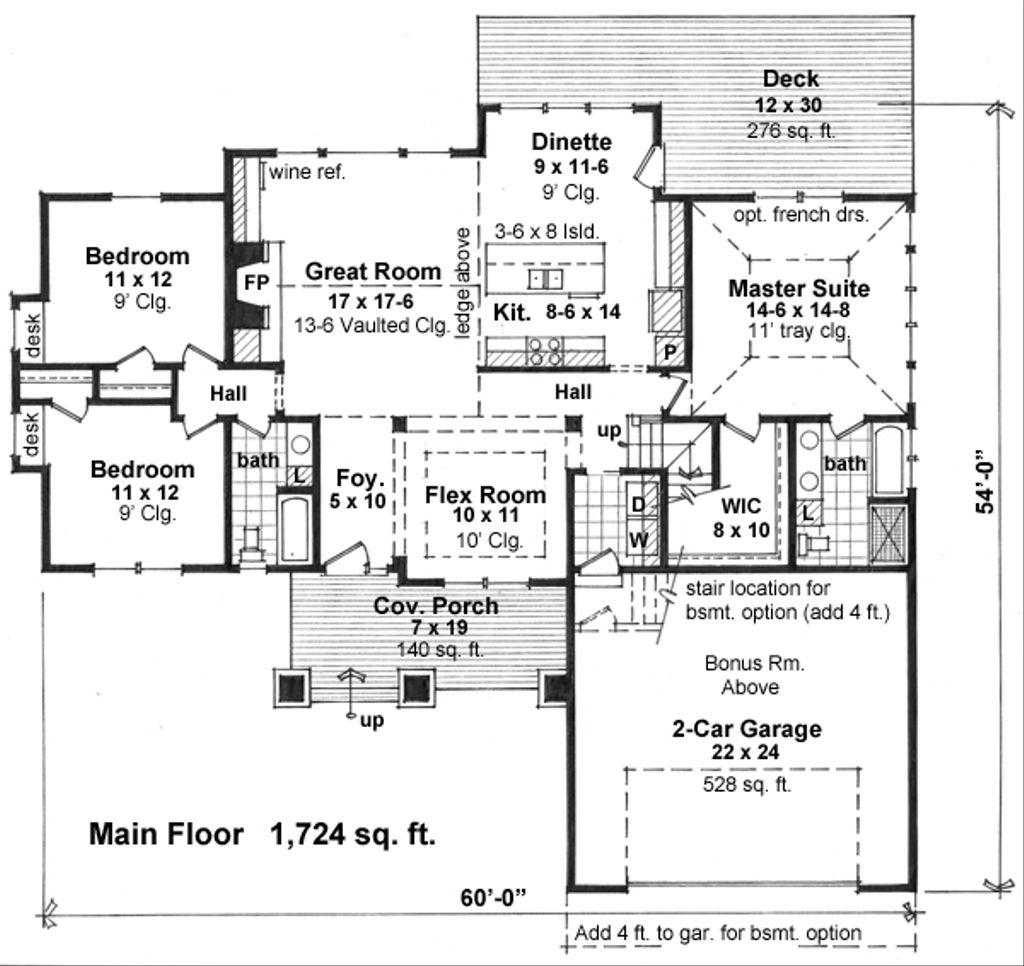 Craftsman Style House Plan 3 Beds 2 Baths 1724 Sq Ft Plan 51 521 Houseplans Com