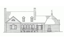 House Plan Design - Country Exterior - Rear Elevation Plan #137-151