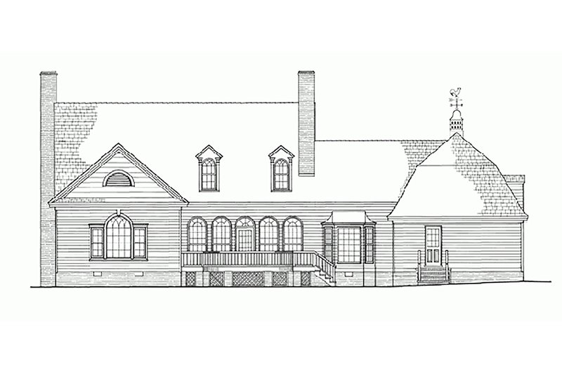 Country Exterior - Rear Elevation Plan #137-151 - Houseplans.com