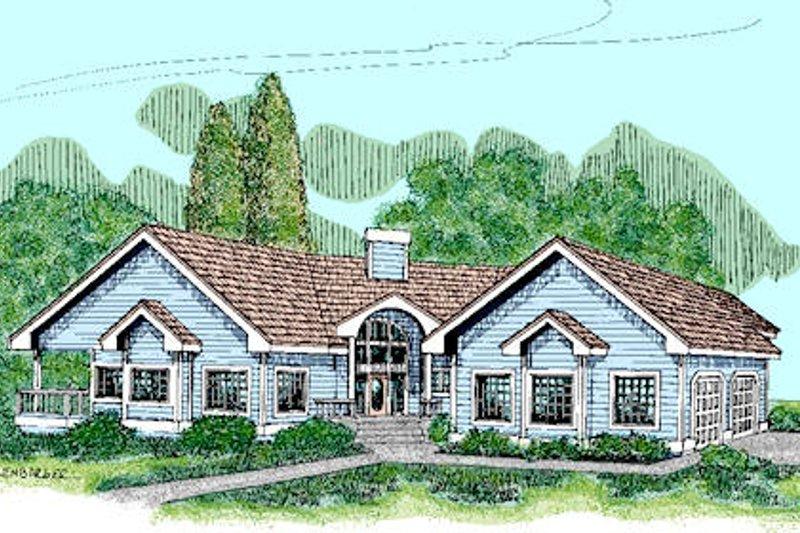 Cottage Exterior - Front Elevation Plan #60-234