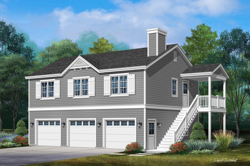 Country Style House Plan - 2 Beds 2 Baths 1135 Sq/Ft Plan #22-612