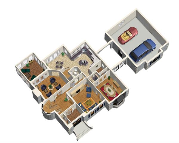 European Floor Plan - Main Floor Plan Plan #25-4707