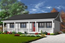 Home Plan Design - Ranch Exterior - Front Elevation Plan #23-857