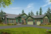 Craftsman Style House Plan - 4 Beds 3 Baths 4035 Sq/Ft Plan #132-160 Exterior - Front Elevation