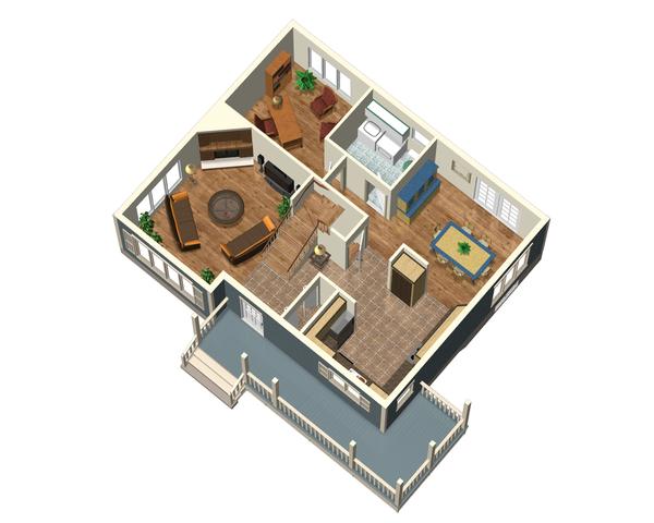 Country Floor Plan - Main Floor Plan Plan #25-4412