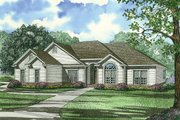 Traditional Style House Plan - 4 Beds 3 Baths 1989 Sq/Ft Plan #17-1040 Exterior - Front Elevation