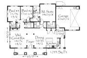 Craftsman Style House Plan - 3 Beds 2 Baths 1793 Sq/Ft Plan #509-41 Floor Plan - Main Floor Plan