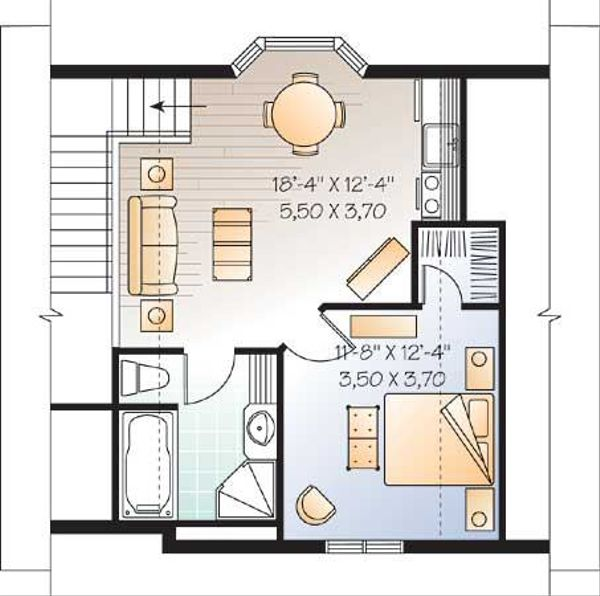 Traditional Floor Plan - Main Floor Plan Plan #23-443