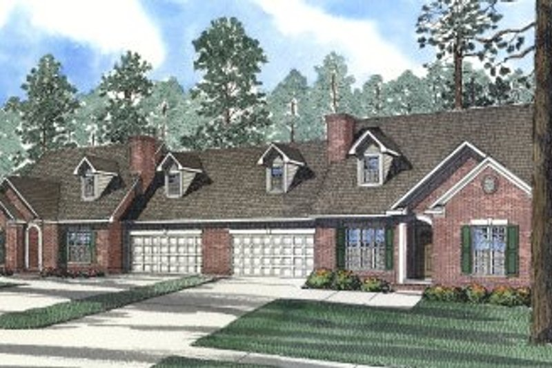 Dream House Plan - Traditional Exterior - Front Elevation Plan #17-2026