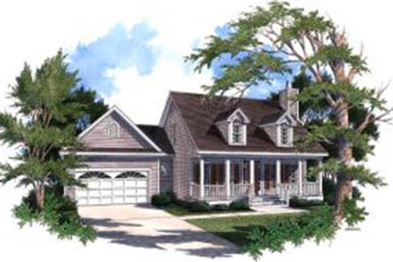 Architectural House Design - Country Exterior - Front Elevation Plan #37-142