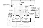 Cottage Style House Plan - 3 Beds 2 Baths 1620 Sq/Ft Plan #45-583 Floor Plan - Main Floor Plan