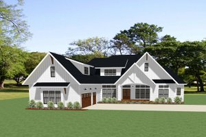 Farmhouse Exterior - Front Elevation Plan #898-48