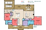Farmhouse Style House Plan - 4 Beds 4.5 Baths 3860 Sq/Ft Plan #63-430 Floor Plan - Main Floor Plan