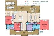 Farmhouse Style House Plan - 4 Beds 4.5 Baths 3860 Sq/Ft Plan #63-430 Floor Plan - Main Floor Plan