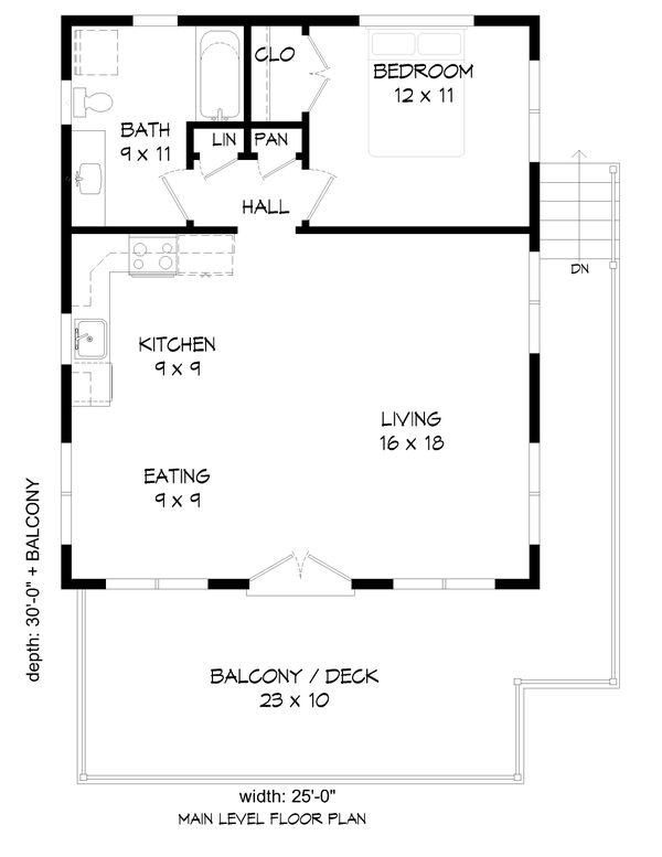 Architectural House Design - Modern Floor Plan - Main Floor Plan #932-343