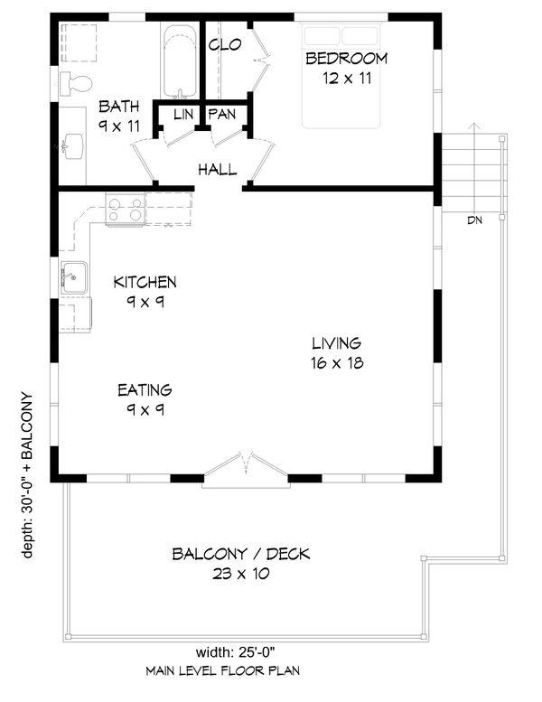 Modern Floor Plan - Main Floor Plan #932-343