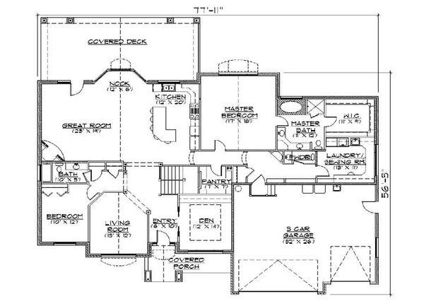 House Plan Design - Traditional Floor Plan - Main Floor Plan #5-317