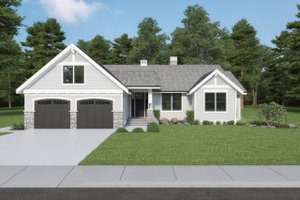 Craftsman Exterior - Front Elevation Plan #1070-114