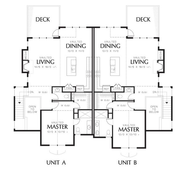 Craftsman Floor Plan - Upper Floor Plan Plan #48-627