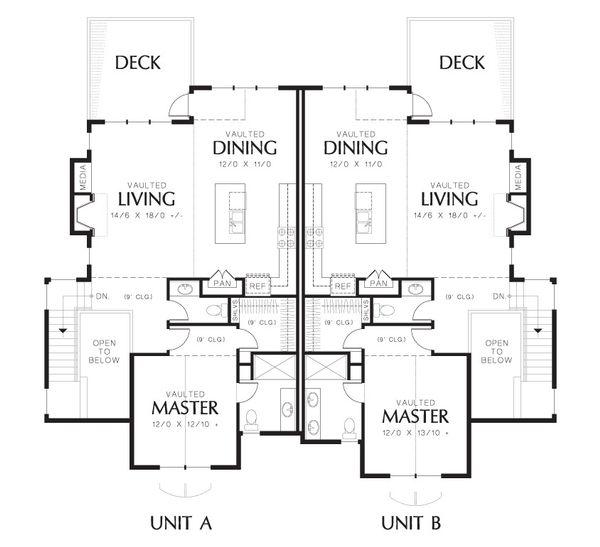 Home Plan - Craftsman Floor Plan - Upper Floor Plan #48-627