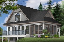Architectural House Design - Farmhouse Exterior - Front Elevation Plan #23-525