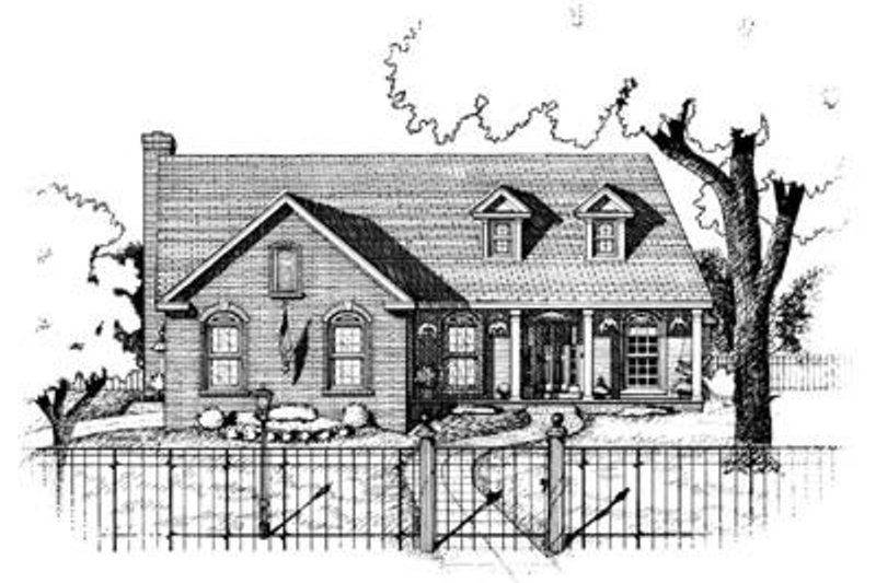Traditional Exterior - Front Elevation Plan #20-505