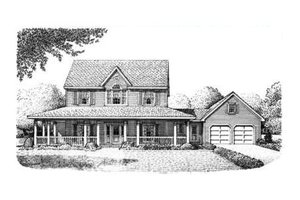 House Plan Design - Country Exterior - Front Elevation Plan #410-135