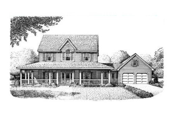 Country Exterior - Front Elevation Plan #410-135