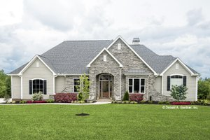 Traditional Exterior - Front Elevation Plan #929-741
