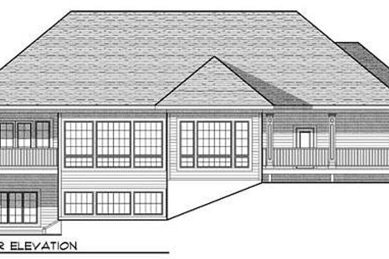 Traditional Exterior - Rear Elevation Plan #70-937 - Houseplans.com