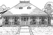 Southern Style House Plan - 3 Beds 2 Baths 1870 Sq/Ft Plan #37-157 Exterior - Front Elevation