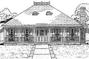 Southern Exterior - Front Elevation Plan #37-157