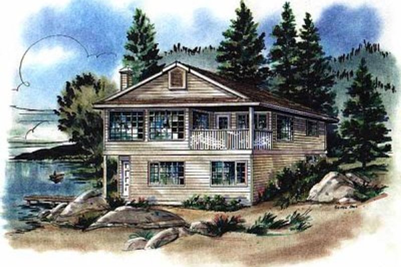 Bungalow Exterior - Front Elevation Plan #18-157