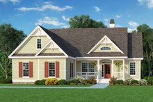 Country Exterior - Front Elevation Plan #929-421