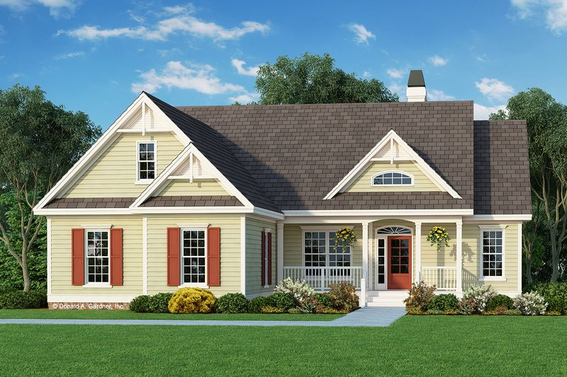 Country Style House Plan - 3 Beds 2 Baths 1488 Sq/Ft Plan #929-421 Exterior - Front Elevation