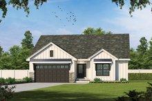 Dream House Plan - Farmhouse Exterior - Front Elevation Plan #20-2462