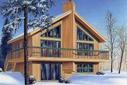 Contemporary Style House Plan - 3 Beds 2 Baths 1574 Sq/Ft Plan #23-2040 Exterior - Front Elevation