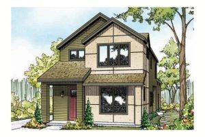 Cottage Exterior - Front Elevation Plan #124-909