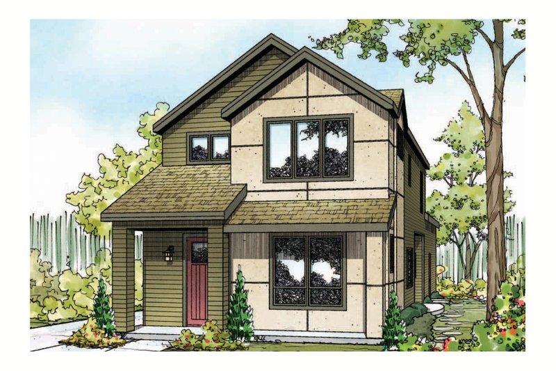 House Plan Design - Cottage Exterior - Front Elevation Plan #124-909