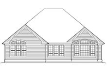 Dream House Plan - Traditional Exterior - Rear Elevation Plan #48-412