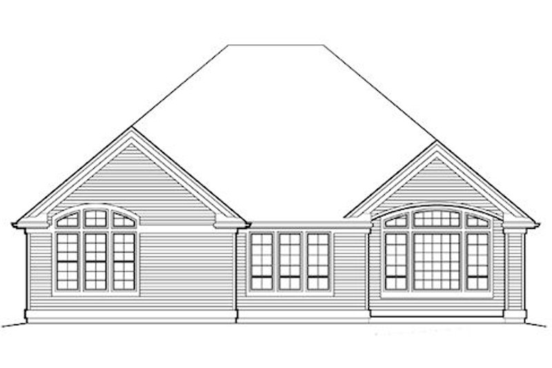 Traditional Exterior - Rear Elevation Plan #48-412 - Houseplans.com