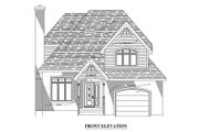 Country Style House Plan - 3 Beds 2.5 Baths 1383 Sq/Ft Plan #138-314 Exterior - Other Elevation