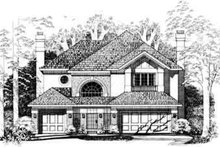 House Blueprint - Traditional Exterior - Front Elevation Plan #72-469