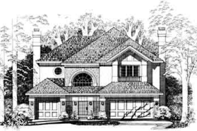 Traditional Exterior - Front Elevation Plan #72-469 - Houseplans.com