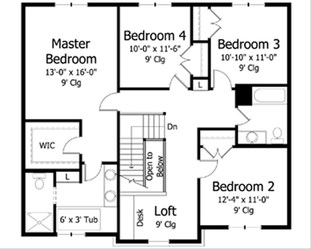 Traditional Style House Plan 4 Beds 2 5 Baths 2642 Sq Ft
