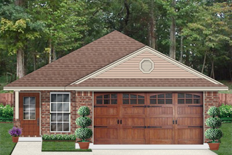 Traditional Style House Plan - 3 Beds 2 Baths 1680 Sq/Ft Plan #84-640 Exterior - Front Elevation